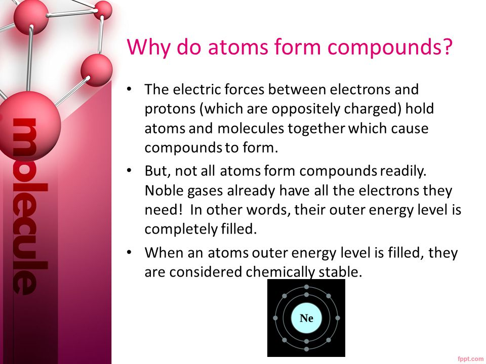 How do atoms become chemically stable.