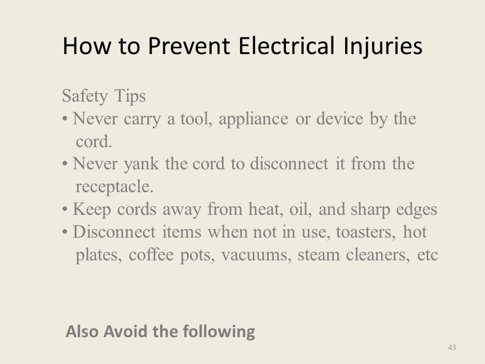 ELECTRICAL HAZARDS 42