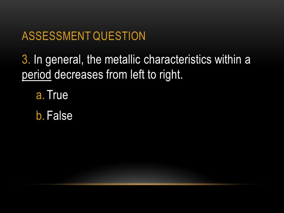 ASSESSMENT QUESTION 3.