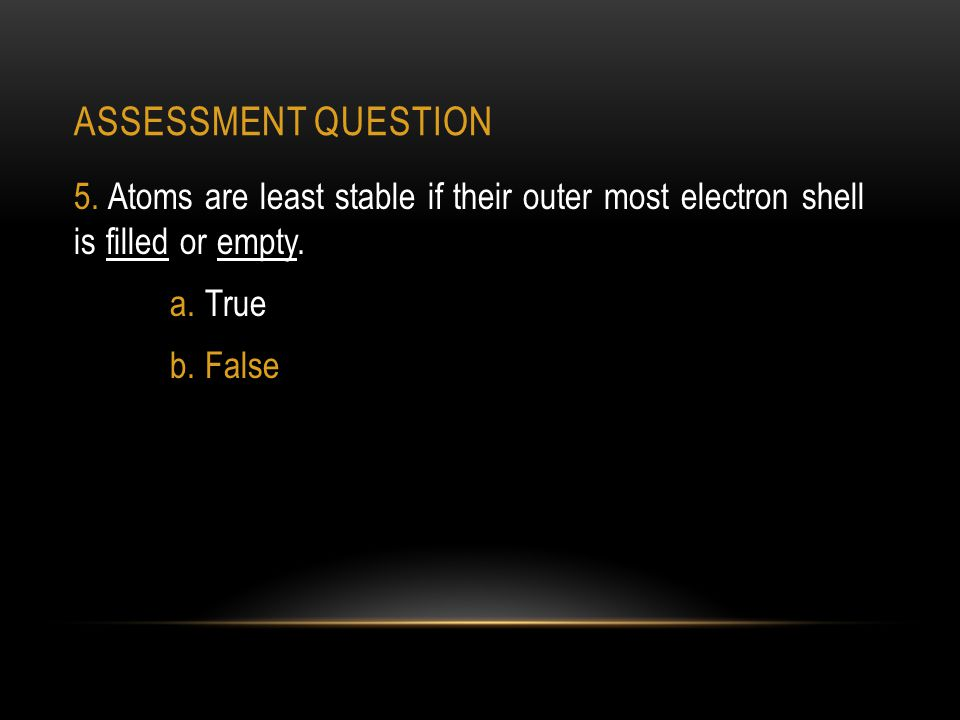 ASSESSMENT QUESTION 5.