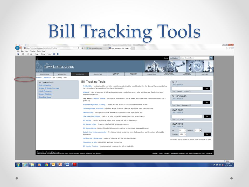 Bill Tracking Tools