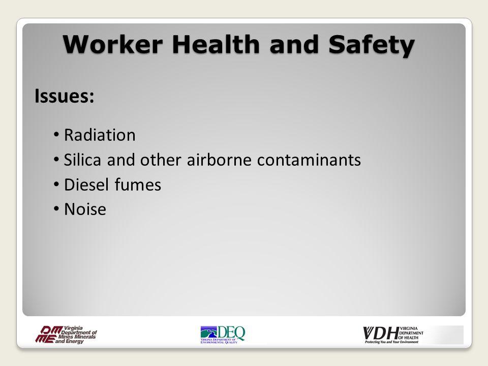 MSHA Radiation Standards: Existing federal regulations address radiation exposure to underground miners.
