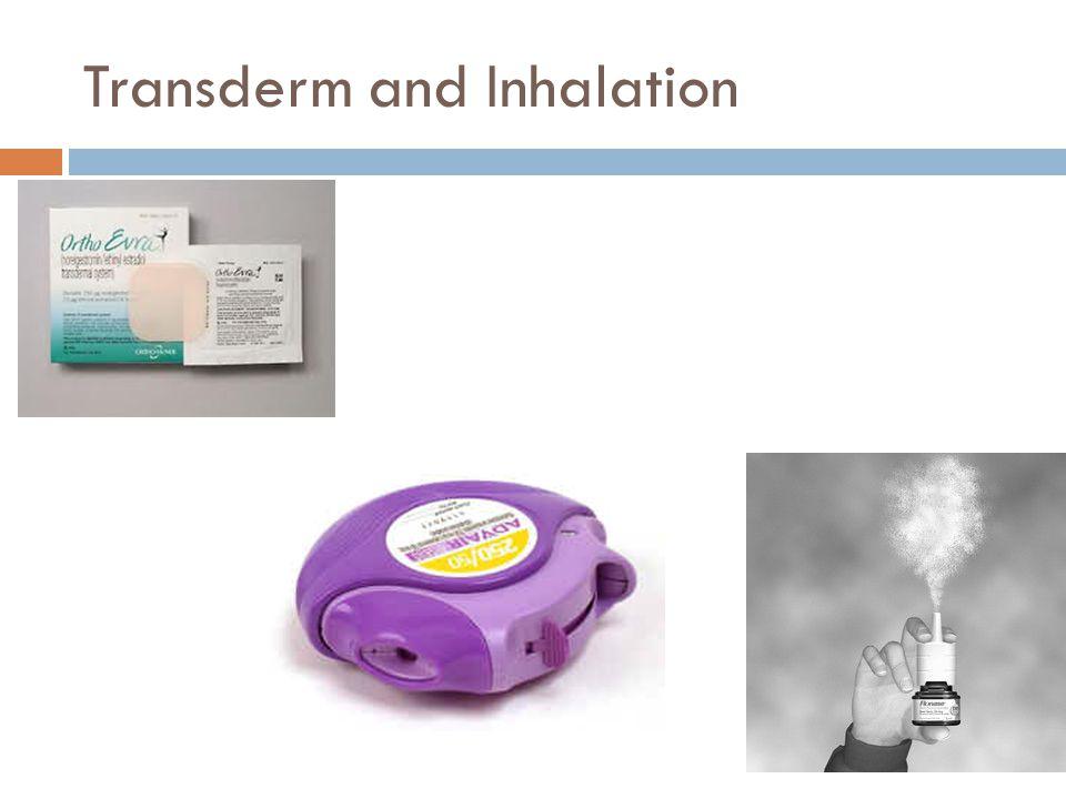 Transderm and Inhalation