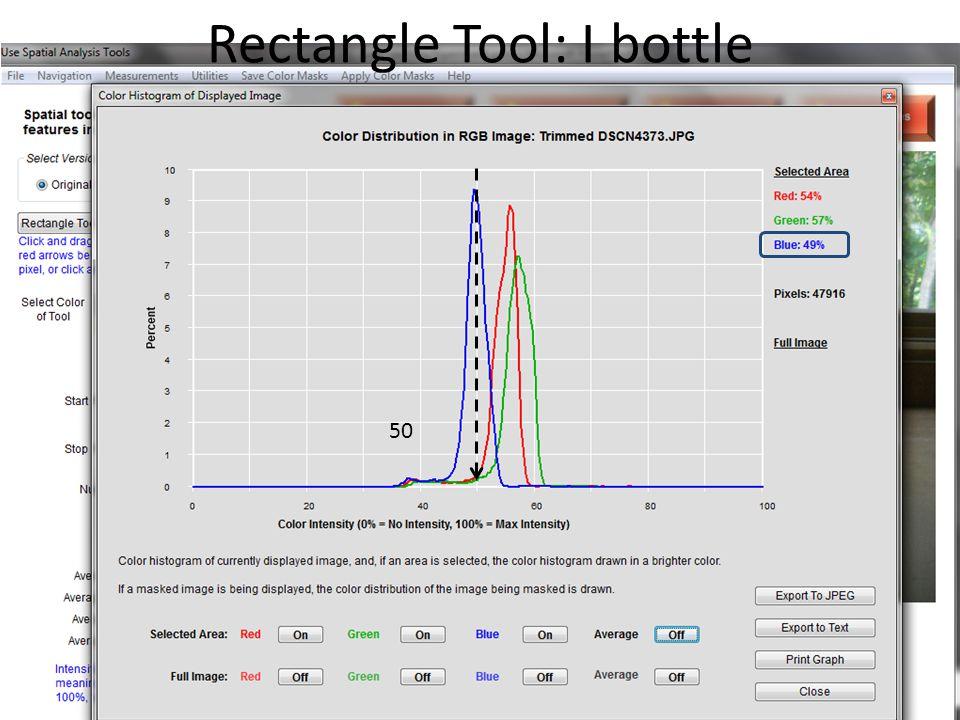 histogram Rectangle Tool: I bottle 50