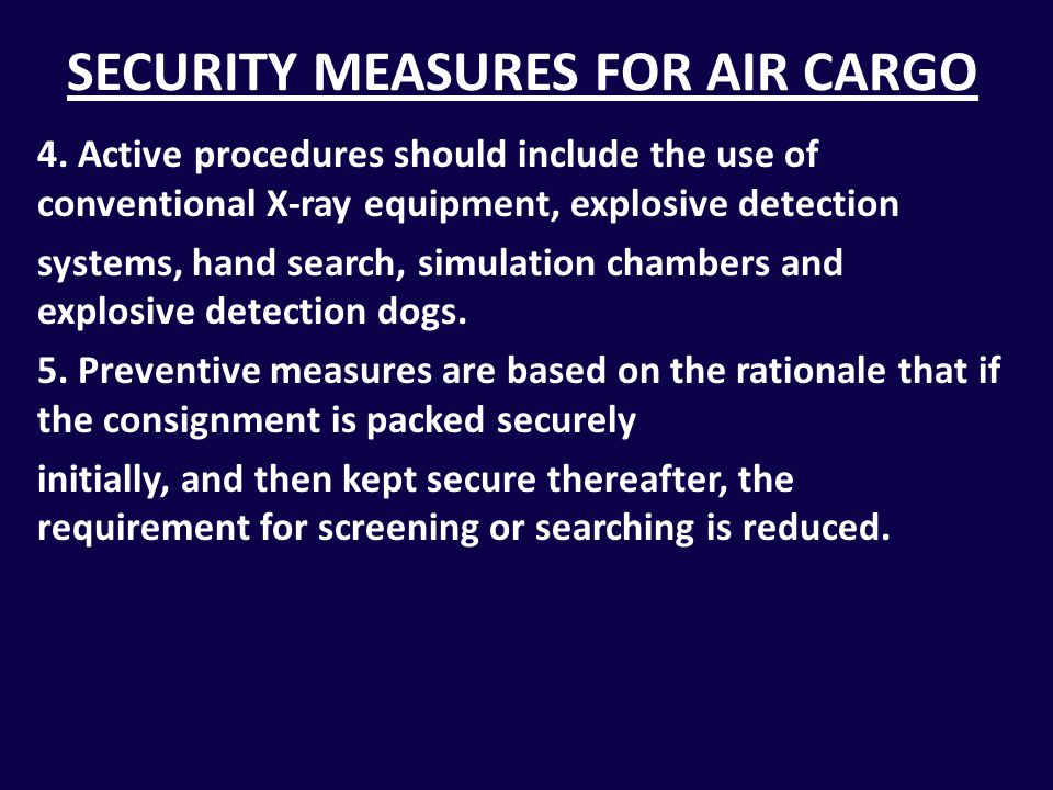 SECURITY MEASURES 1.Catering security 2.Pre-employment background checks 3.Security patrols 4.Security surveys 5.Security tests 6.Background checks of security staff