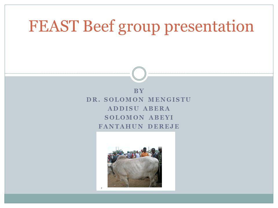 BY DR. SOLOMON MENGISTU ADDISU ABERA SOLOMON ABEYI FANTAHUN DEREJE FEAST Beef group presentation