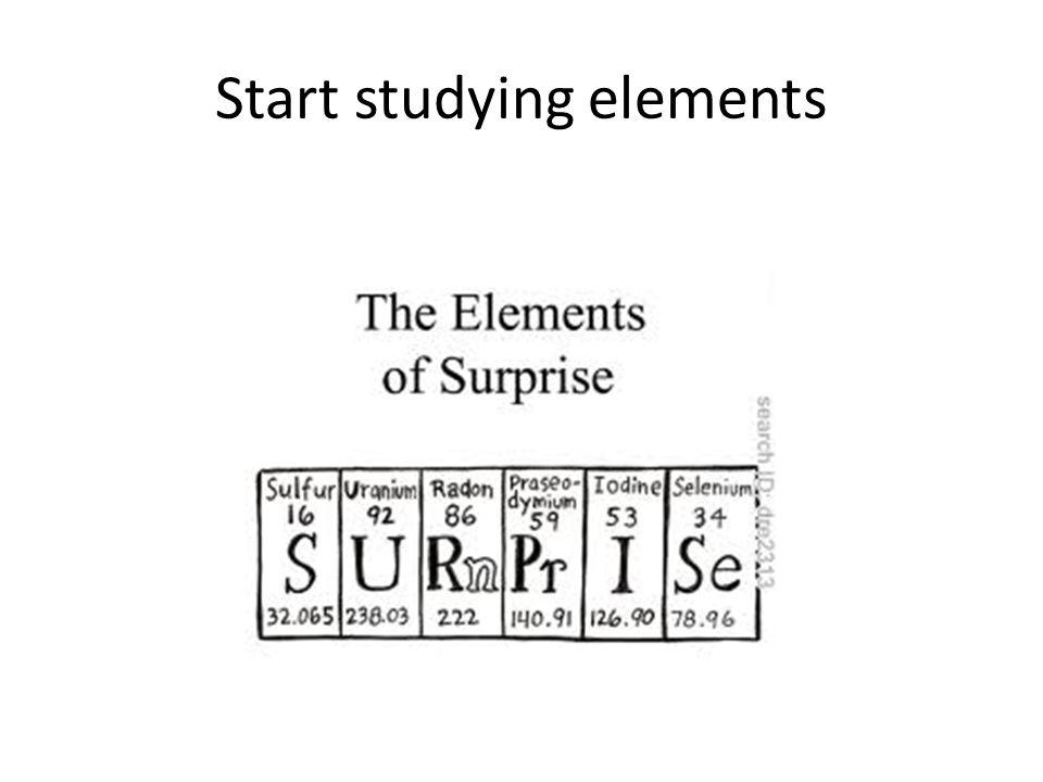 Start studying elements