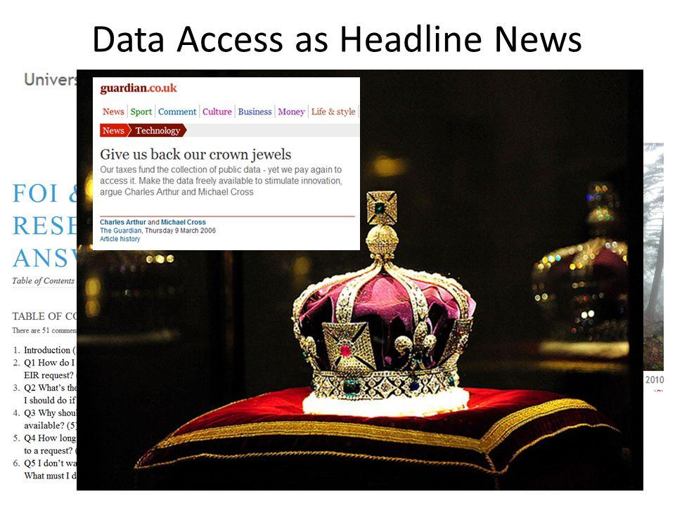 JISC Legal Data Access as Headline News