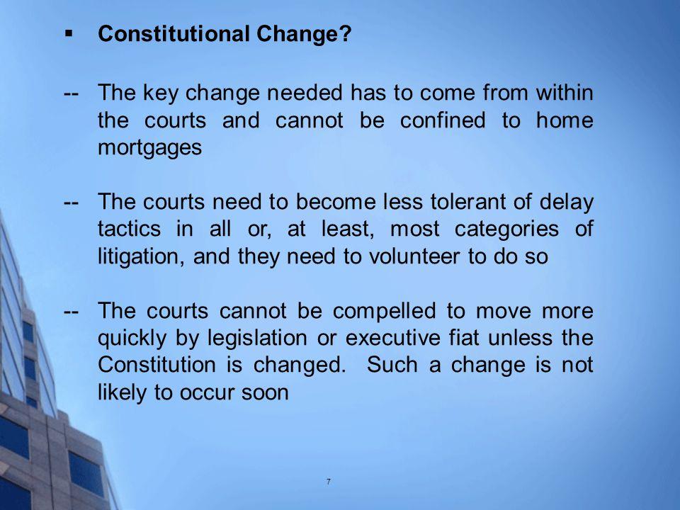  Constitutional Change.