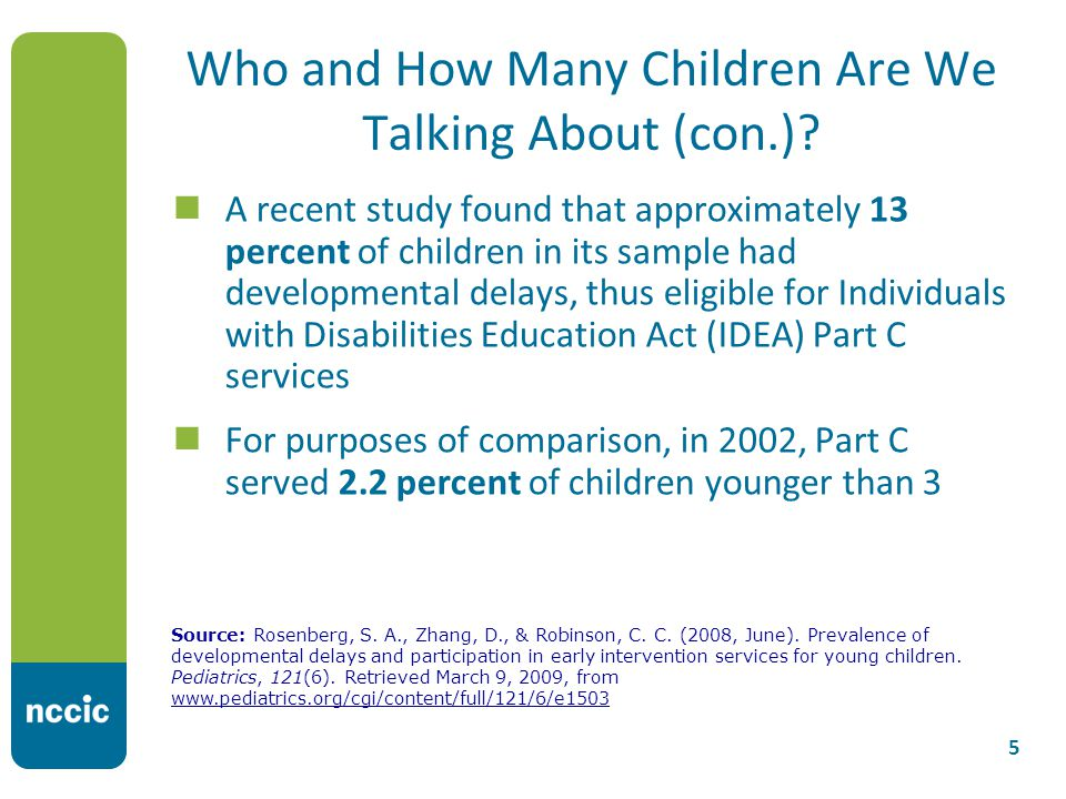 Who and How Many Children Are We Talking About (con.).