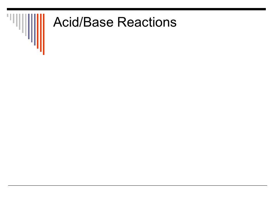 Acid/Base Reactions
