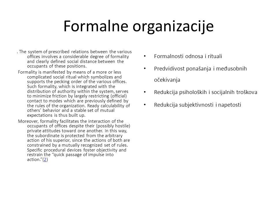 Formalne organizacije.