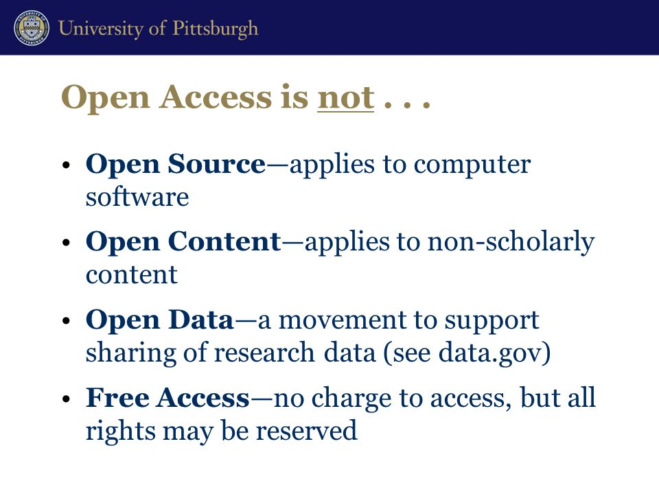 Open Access is not...
