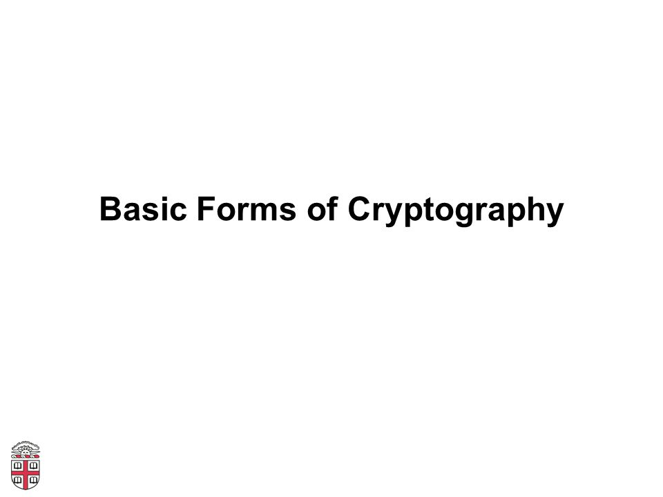 Basic Forms of Cryptography