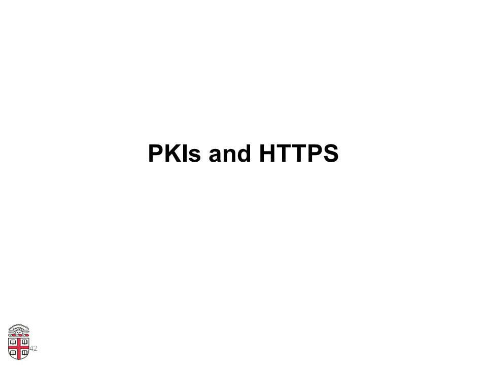 42 PKIs and HTTPS