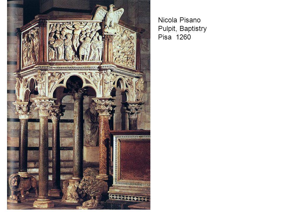 Adoration of the Magi Nicola Pisano Pulpit, Baptistry Pisa 1260