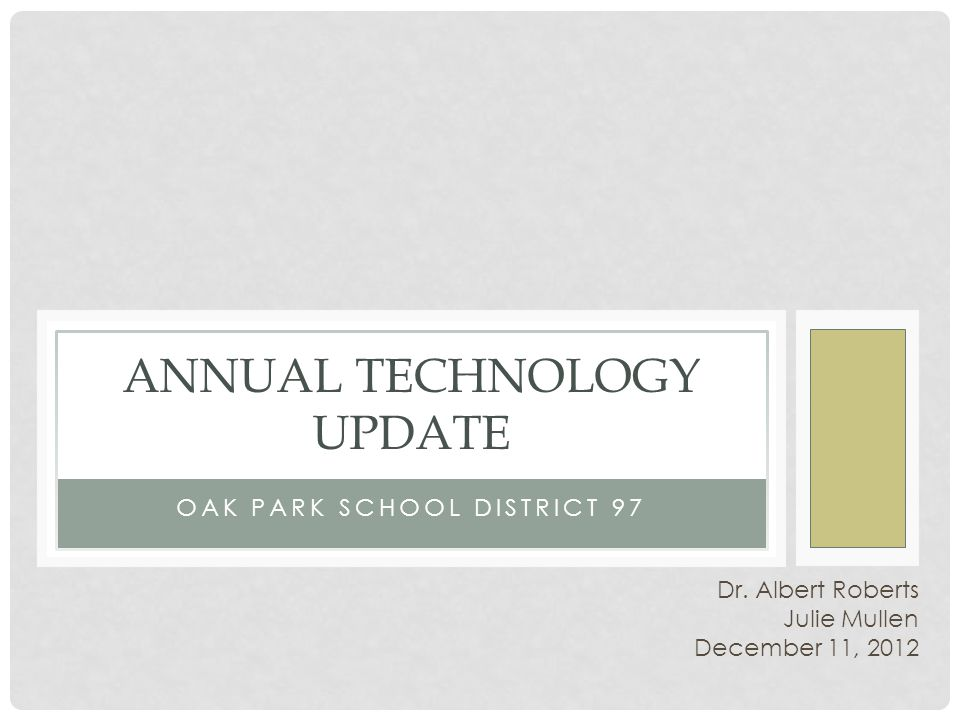 Collaborate with other school districts Research Webcasts and podcasts Work with vendors Exchange ideas with teachers and parents Need: Solution: MOVING FORWARD To stay knowledgeable about new technologies: