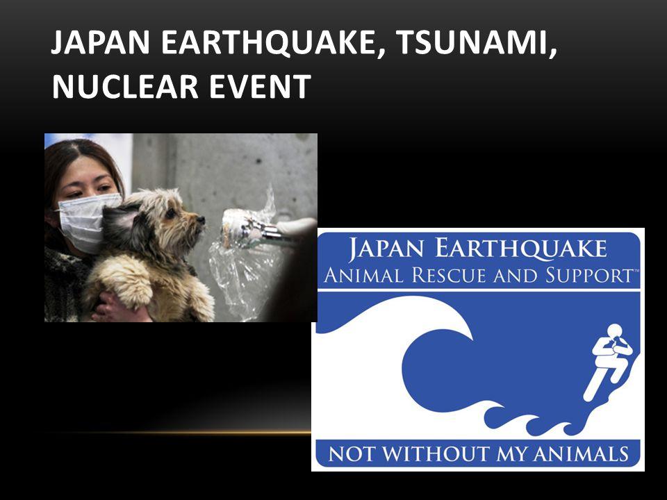 JAPAN EARTHQUAKE, TSUNAMI, NUCLEAR EVENT