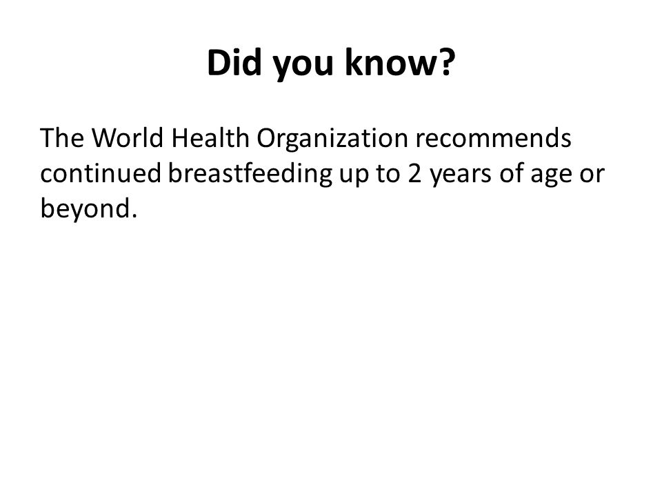 Did you know.