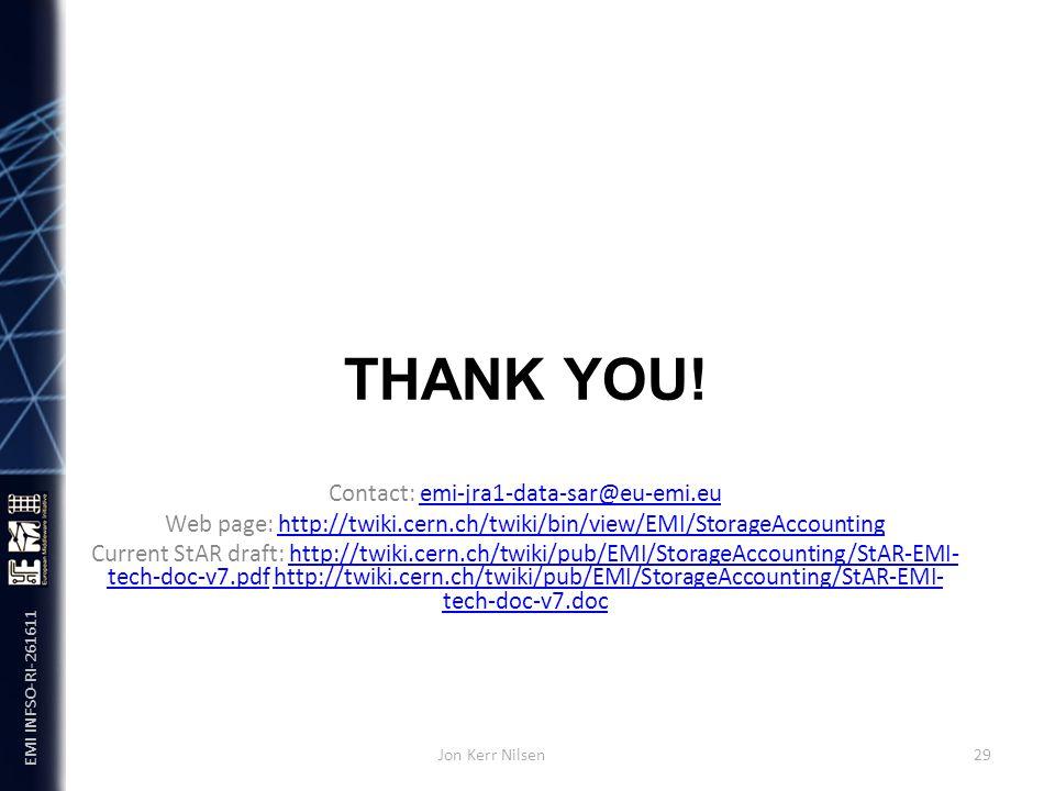 EMI INFSO-RI-261611 THANK YOU.