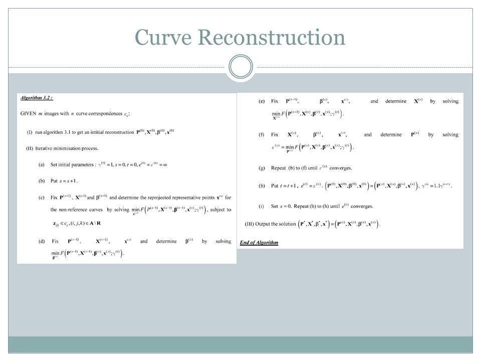 Curve Reconstruction
