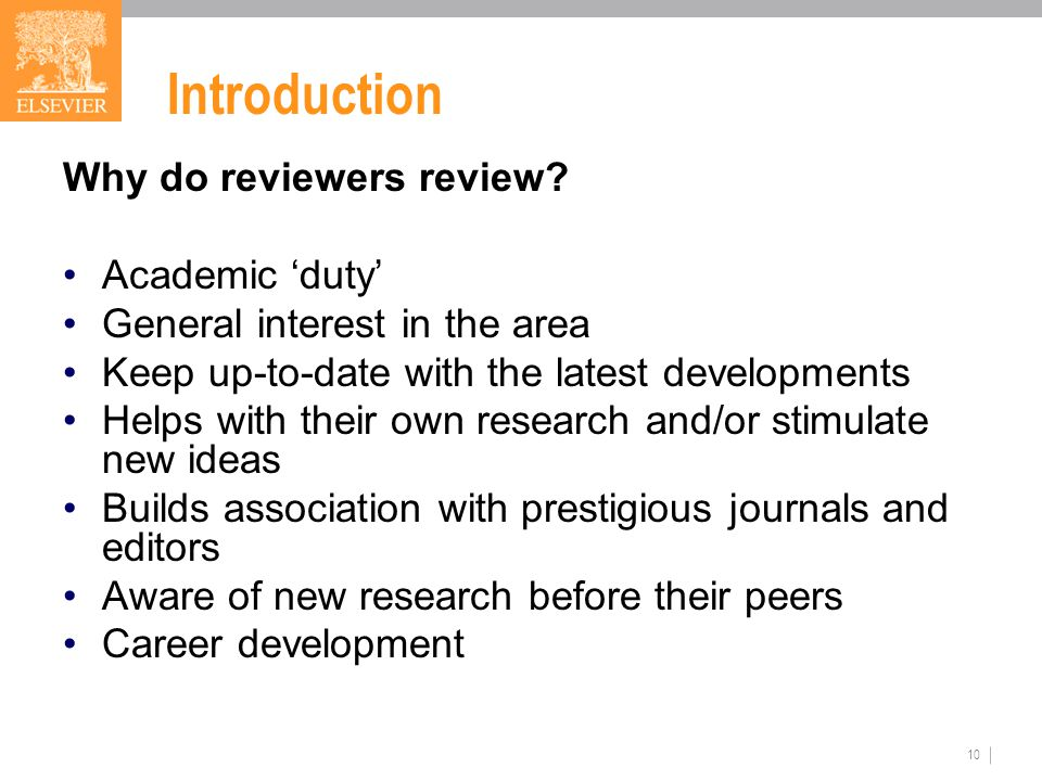 10 Introduction Why do reviewers review.