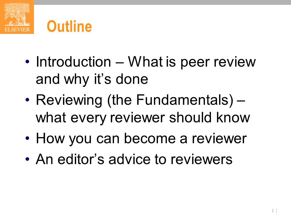 And a final thought… It is a professional honor to be invited to review a scientific manuscript as part of the peer review process.