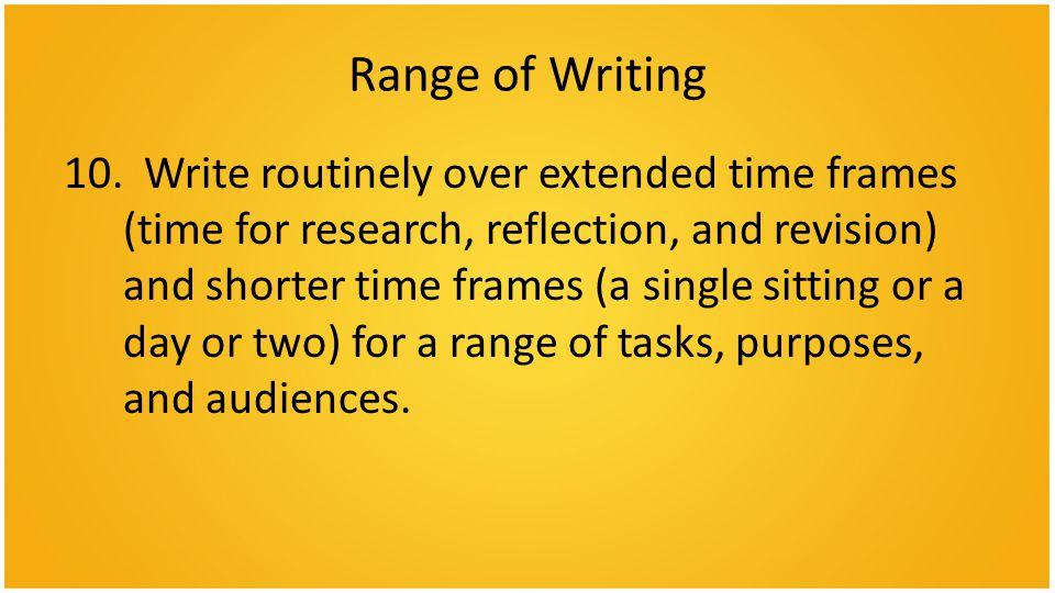 Range of Writing 10.