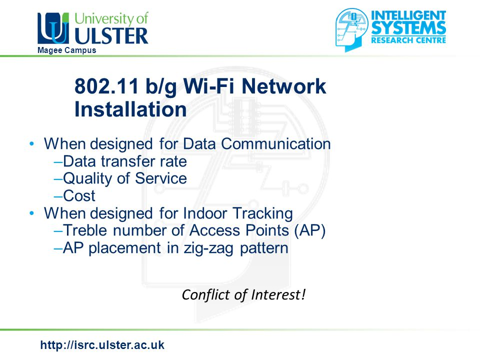 http://isrc.ulster.ac.uk Magee Campus Long term predictions for User 1