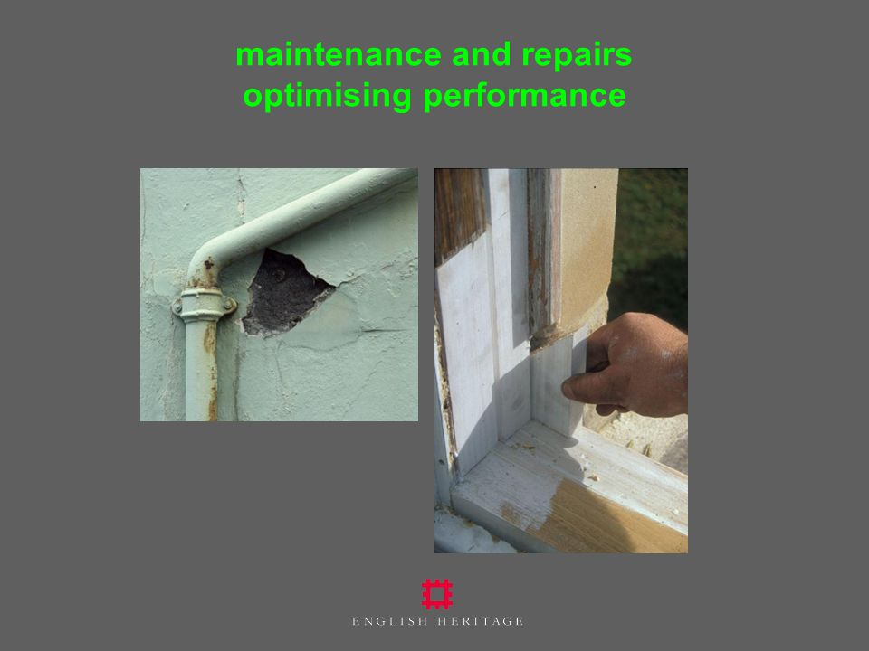 maintenance and repairs optimising performance