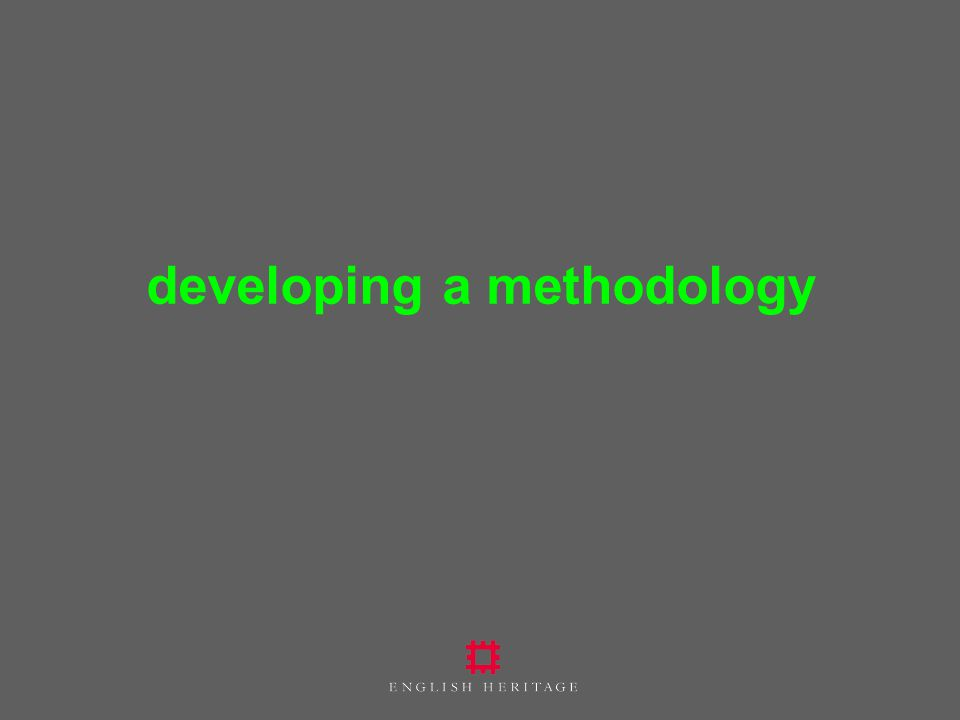 developing a methodology