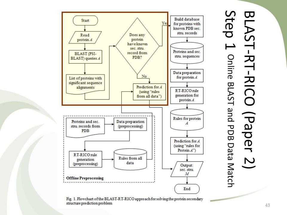 BLAST-RT-RICO (Paper 2)Step 1 Online BLAST and PDB Data Match 43