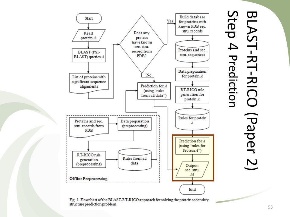 BLAST-RT-RICO (Paper 2)Step 4 Prediction 53
