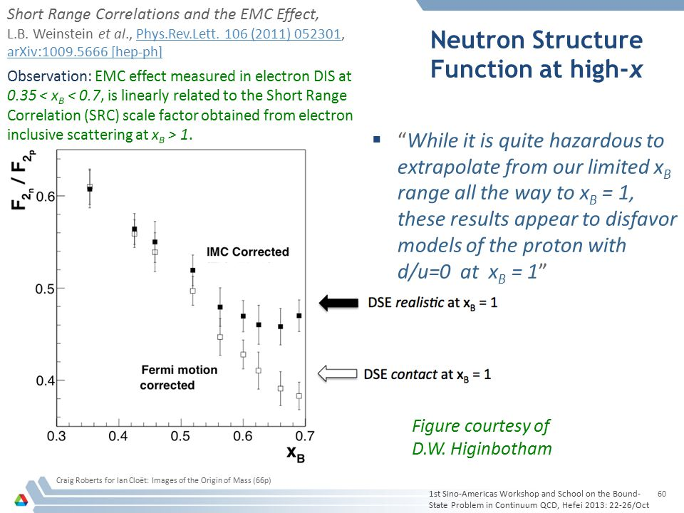 "Neutron Structure Function at high-x  ""While it is quite hazardous to extrapolate from our limited x B range all the way to x B = 1, these results ap"