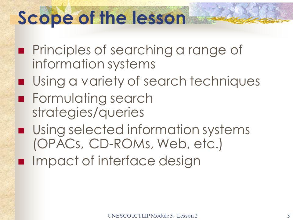 UNESCO ICTLIP Module 3.