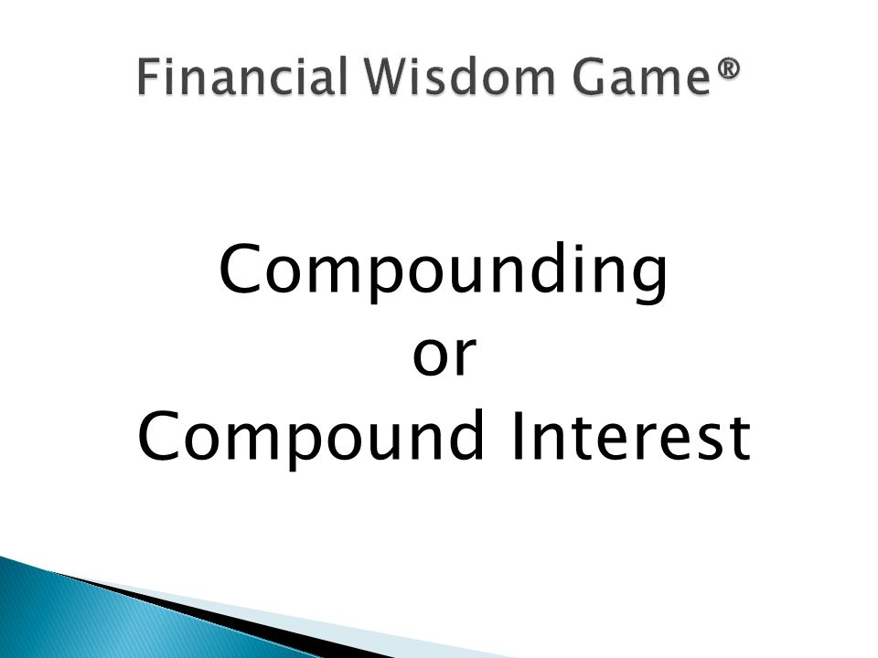 Compounding or Compound Interest