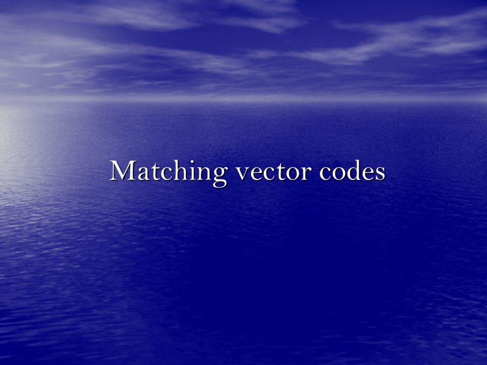 Matching vector codes