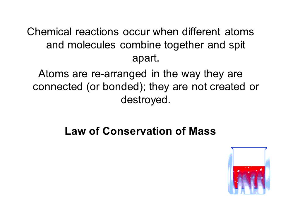 Chemical reactions occur when different atoms and molecules combine together and spit apart. Atoms are re-arranged in the way they are connected (or b