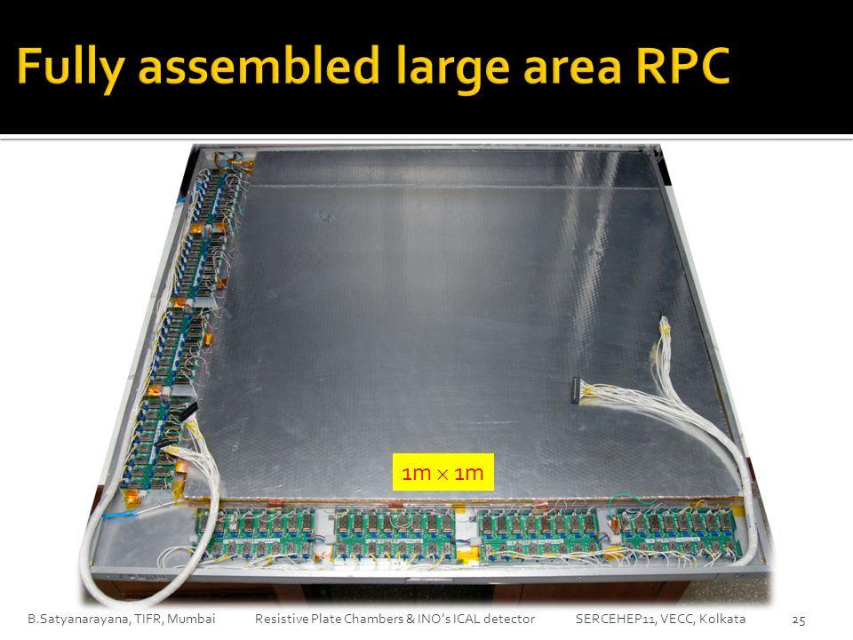 B.Satyanarayana, TIFR, Mumbai Resistive Plate Chambers & INO's ICAL detector SERCEHEP11, VECC, Kolkata25 1m  1m