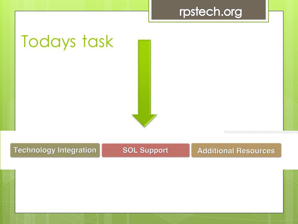 Todays task