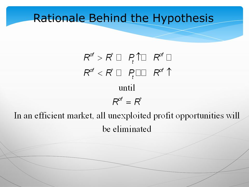 Rationale Behind the Hypothesis
