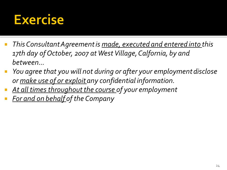  This Consultant Agreement is made, executed and entered into this 17th day of October, 2007 at West Village, Calfornia, by and between...