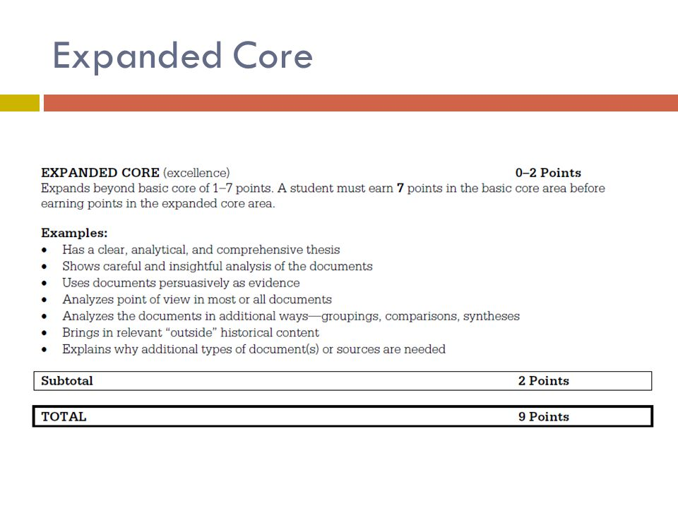 Expanded Core