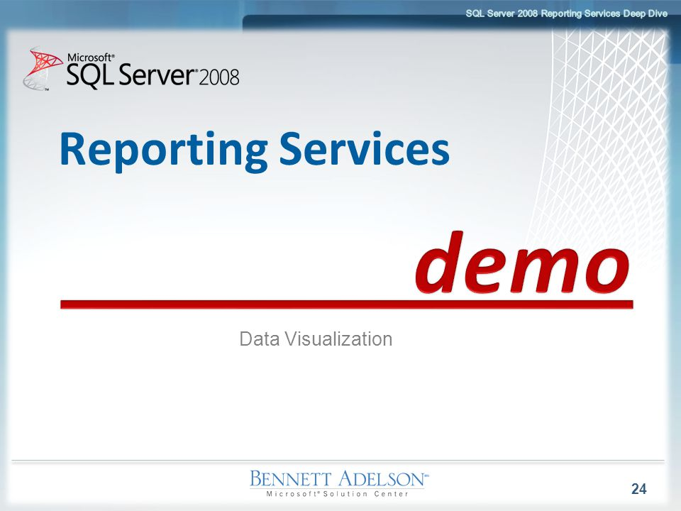 Reporting Services Data Visualization 24