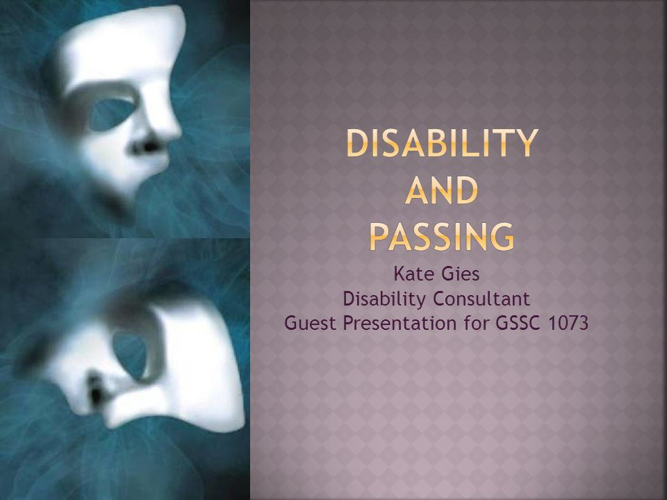 Kate Gies Disability Consultant Guest Presentation for GSSC 1073