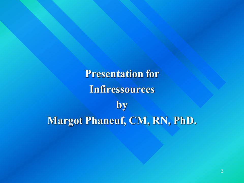 3 Objectives  To introduce the English section of Infiressources.ca, a web site for nurses.