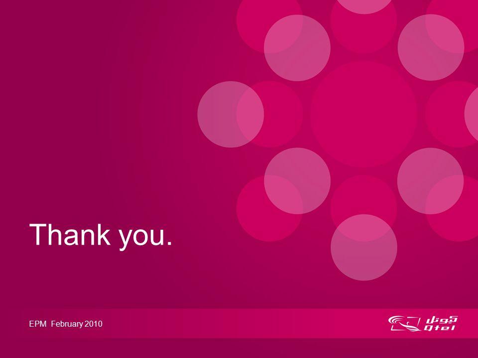Thank you. EPM February 2010