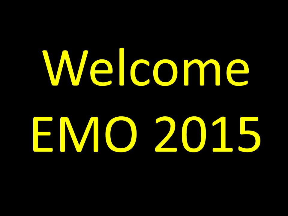 Welcome EMO 2015