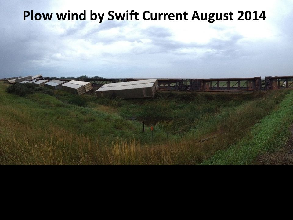 Plow wind by Swift Current August 2014