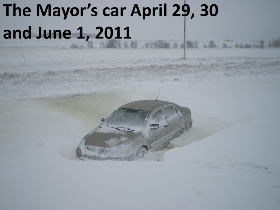 The Mayor's car April 29, 30 and June 1, 2011